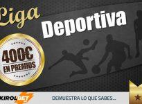 KirolBet nuevo patrocinador de Liga Deportiva. Gana ahora 100 puntos y ll?vate 20? por registrarte